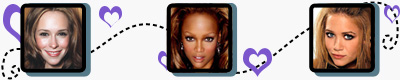 Jennifer Love Hewitt, Tyra Banks, and Mary Kate Olsen have heart shaped faces